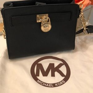 Michael Kors Black Hamilton mini crossbody
